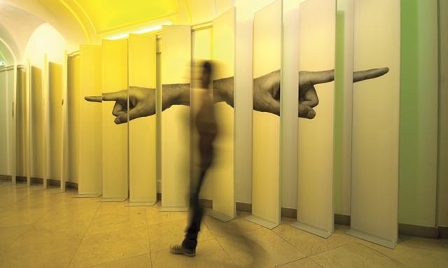 Image: Hand to Hand wayfinding/art installation